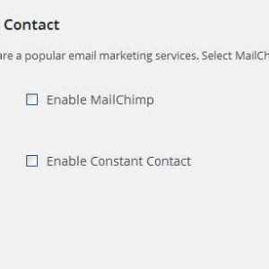 Mailchimp and Constant Contact Integration