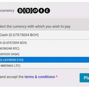 MyCryptoCheckout – Accept 95+ coins: Bitcoin