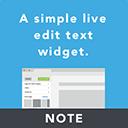 Note – A live edit text widget