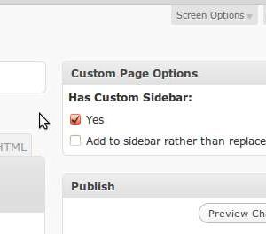 Simple Page Specific Sidebars