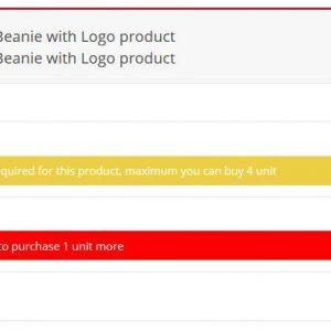 Minimum Maximum quantity & Minimum Order amount for WooCommerce