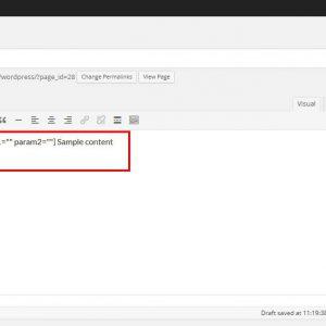 Plugin Sample Shortcode