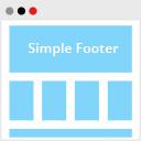 Podamibe Simple Footer Widget Area