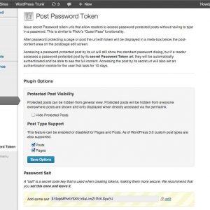 Post Password Token