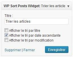 Posts Order Widget