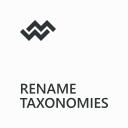 Rename Taxonomies by WebMan