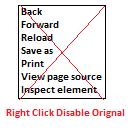 Right Click Disable Orignal