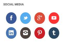 Round Social Media Buttons