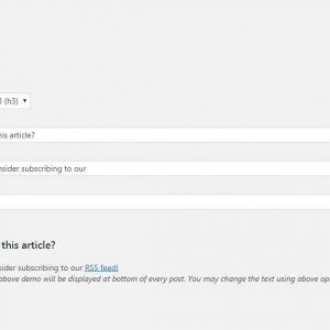 Add RSS feed Link to Single Posts (Promote RSS Link)
