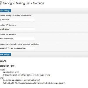 SendGrid Mailing List