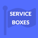 Service Boxes Widgets Text Icon