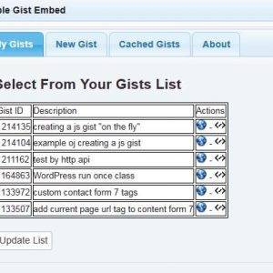 Simple Gist Embed