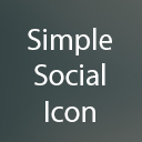 Simple Social Icon Widget