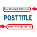 Small Heading For Post Title