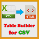 Table Builder for CSV