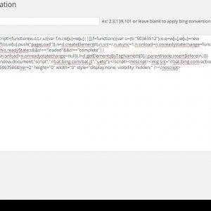Technoscore Bing Conversion Tracking