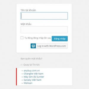 TNC Display Bookmark In WP-Login Page