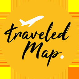 TraveledMap Trip itinerary: Embedded map