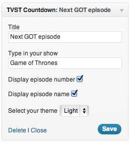 TVST Countdown