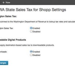 Washington State Sales Tax for Shopp