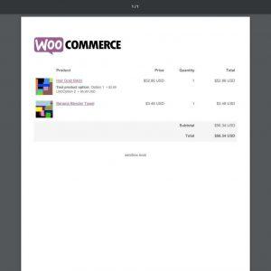 WooCommerce Cart PDF