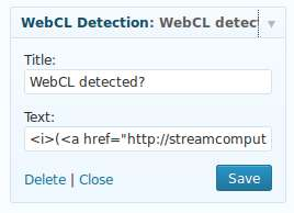 WebCL Widget