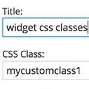 Widget CSS Classes