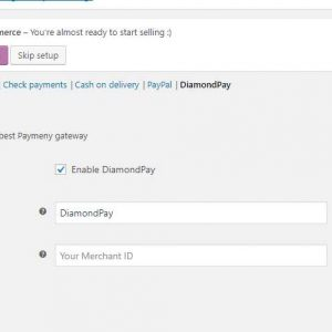 DiamondPay payment gateway for WooCommerce