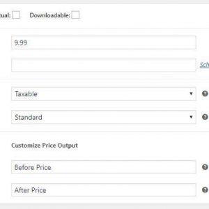 Woocommerce Price Display