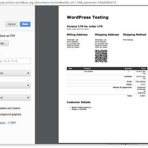 Shipping Address QR code for Invoices & Packing lists