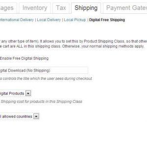 WooCommerce Digital Download Free Shipping