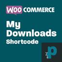 WooCommerce My Downloads Shortcode