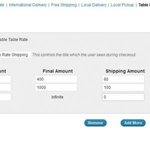 WooCommerce Table Rate Shipping Module