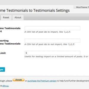 WooTheme Testimonials to Testimonials Widget