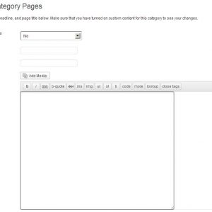 WP Custom Category Pages