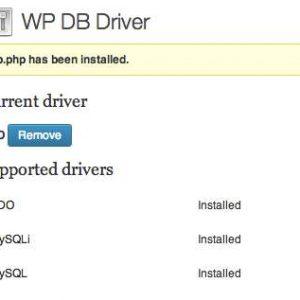 WP DB Driver