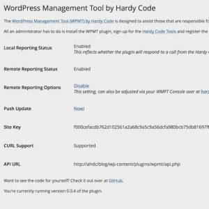 WordPress Management Tool by Hardy Code