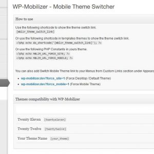 WP-Mobilizer