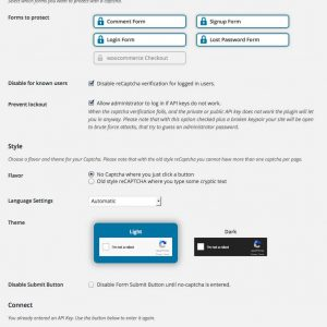 WordPress ReCaptcha Integration