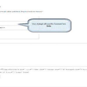 WP Reset Comment Form