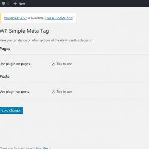 WP Simple Meta Tags