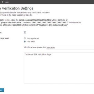 WP Site Verification tool