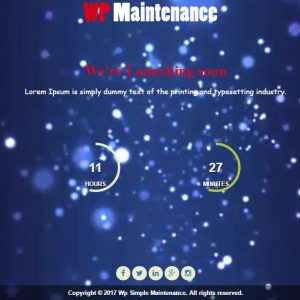 WP Simple Maintenance