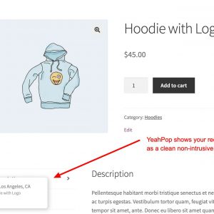 YeahPop – Sales Notification Popups For Woocommerce