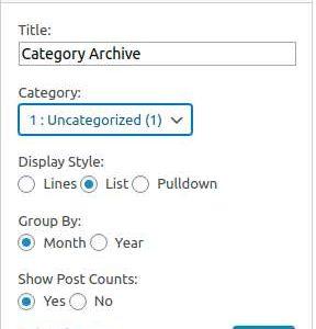 Category Archive Widget