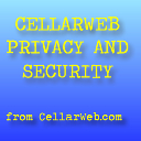 CellarWeb Privacy and Security Options