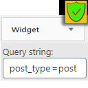 Built-in Widgets Query extend