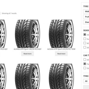 TyresAddict – Tyre Product Filter for WooCommerce