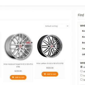 TyresAddict – Wheel Product Filter
